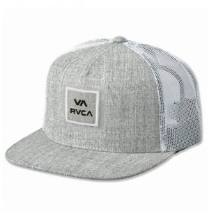 rvca trucker cap heather grey