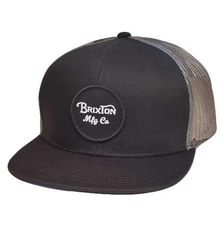 brixton wheeler dark grey mesh trucker cap