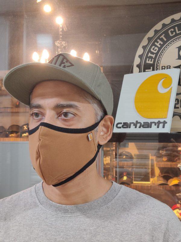carhartt face mask brown