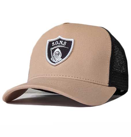 raiders style reaper trucker mesh cap