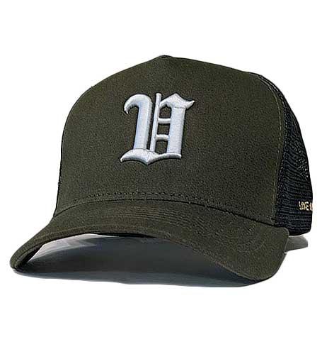 """villains """"V"""" cap Sons brand aframe trucker hat"""