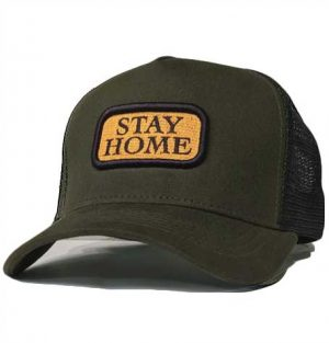 Sons brand A-frame trucker mesh cap STAY home