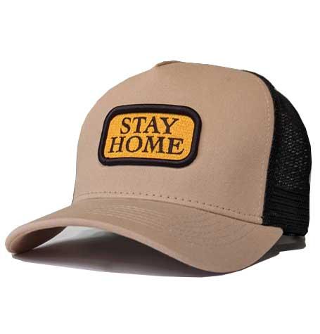 stay home mesh trucker cap high crown sons brand